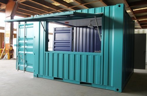 cargo container office